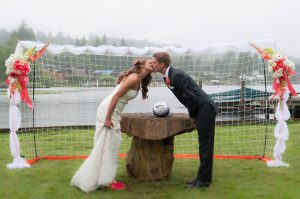 Small Goal Soccer Wedding